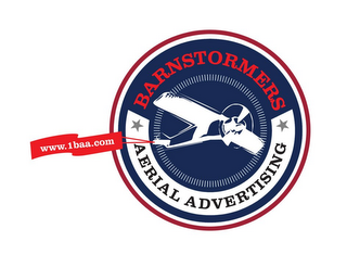 mark for BARNSTORMERS AERIAL ADVERTISING WWW.1BAA.COM, trademark #85654909