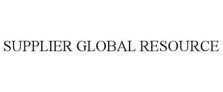 mark for SUPPLIER GLOBAL RESOURCE, trademark #85655154