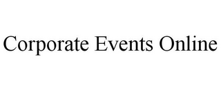 mark for CORPORATE EVENTS ONLINE, trademark #85655603