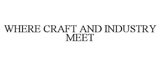 mark for WHERE CRAFT AND INDUSTRY MEET, trademark #85656263