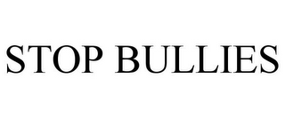 mark for STOP BULLIES, trademark #85656320
