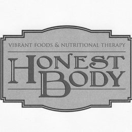 mark for HONEST BODY VIBRANT FOODS & NUTRITIONALTHERAPY, trademark #85656784