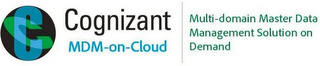 mark for CC COGNIZANT MDM-ON-CLOUD MULTI-DOMAIN MASTER DATA MANAGEMENT SOLUTION ON DEMAND, trademark #85657041
