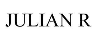 mark for JULIAN R, trademark #85657352