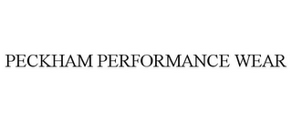 mark for PECKHAM PERFORMANCE WEAR, trademark #85657507