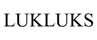 mark for LUKLUKS, trademark #85659001