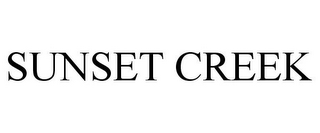 mark for SUNSET CREEK, trademark #85659602