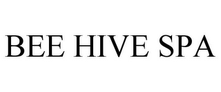 mark for BEE HIVE SPA, trademark #85660357