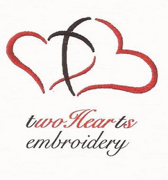 mark for TWOHEARTS EMBROIDERY, trademark #85660406