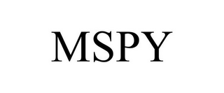 mark for MSPY, trademark #85660585