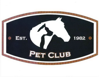 mark for PET CLUB EST. 1982, trademark #85660777