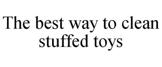 mark for THE BEST WAY TO CLEAN STUFFED TOYS, trademark #85661011