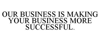 mark for OUR BUSINESS IS MAKING YOUR BUSINESS MORE SUCCESSFUL., trademark #85661493