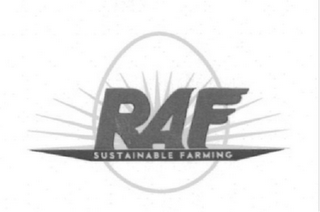 mark for RAF SUSTAINABLE FARMING, trademark #85661842