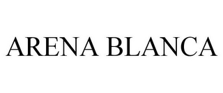 mark for ARENA BLANCA, trademark #85662807