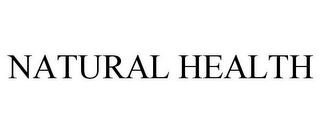 mark for NATURAL HEALTH, trademark #85662809