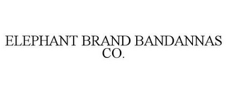 mark for ELEPHANT BRAND BANDANNAS CO., trademark #85662838