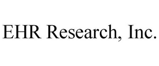 mark for EHR RESEARCH, INC., trademark #85662938
