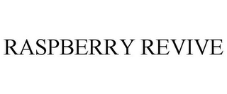 mark for RASPBERRY REVIVE, trademark #85663434