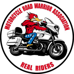 mark for MOTORCYCLE ROAD WARRIOR ASSOCIATION REAL RIDERS, trademark #85663711