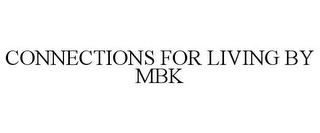 mark for CONNECTIONS FOR LIVING BY MBK, trademark #85663994
