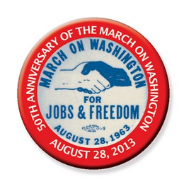 mark for 50TH ANNIVERSARY OF THE MARCH ON WASHINGTON AUGUST 28, 2013 MARCH ON WASHINGTON FOR JOBS & FREEDOM AUGUST 28, 1963, trademark #85664259