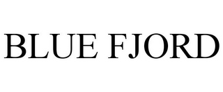 mark for BLUE FJORD, trademark #85664526