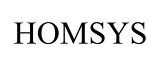 mark for HOMSYS, trademark #85664686