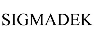 mark for SIGMADEK, trademark #85665223