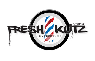 mark for FRESH KUTZ. BARBERSHOP EST2008, trademark #85667460