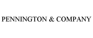 mark for PENNINGTON & COMPANY, trademark #85668326