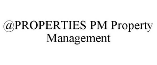 mark for @PROPERTIES PM PROPERTY MANAGEMENT, trademark #85668359