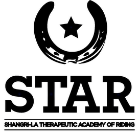 mark for STAR SHANGRI-LA THERAPEUTIC ACADEMY OF RIDING, trademark #85668703