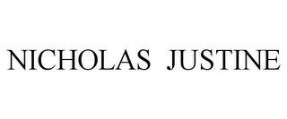 mark for NICHOLAS JUSTINE, trademark #85668719