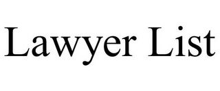 mark for LAWYER LIST, trademark #85668892