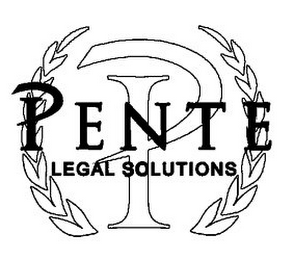 mark for P PENTE LEGAL SOLUTIONS, trademark #85669136