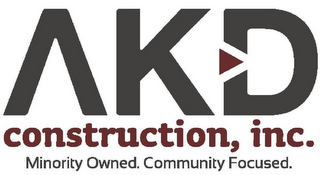 mark for AKD CONSTRUCTION, INC. MINORITY OWNED. COMMUNITY FOCUSED., trademark #85670267