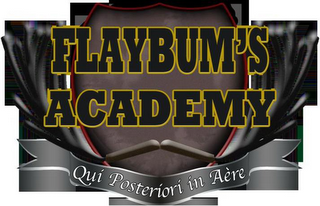 mark for FLAYBUM'S ACADEMY QUI POSTERIORI IN AÈRE, trademark #85671120