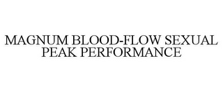 mark for MAGNUM BLOOD-FLOW SEXUAL PEAK PERFORMANCE, trademark #85671735