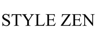 mark for STYLE ZEN, trademark #85671837