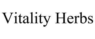 mark for VITALITY HERBS, trademark #85672155