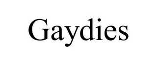 mark for GAYDIES, trademark #85672301