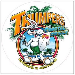 mark for THUMPERS THUMPERS COASTAL GRILLE PORTSMOUTH, VA NAGS HEAD, NC, trademark #85672614