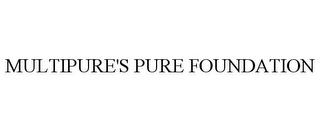 mark for MULTIPURE'S PURE FOUNDATION, trademark #85673243