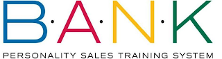 mark for B·A·N·K PERSONALITY SALES TRAINING SYSTEM, trademark #85673289