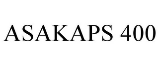 mark for ASAKAPS 400, trademark #85673934
