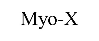 mark for MYO-X, trademark #85674022