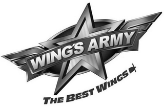 mark for WING'S ARMY THE BEST WINGS, trademark #85674102