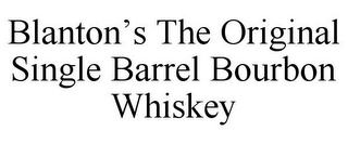 mark for BLANTON'S THE ORIGINAL SINGLE BARREL BOURBON WHISKEY, trademark #85674144