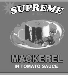 mark for SUPREME BRAND MACKEREL IN TOMATO SAUCE, trademark #85674245